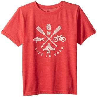 Life is Good Great Outdoors Cool T-Shirt Boy's T Shirt