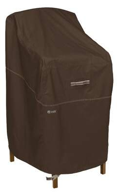 """Classic Accessories Classic Accessories Madrona Rainproof Bar Height Chair Cover, Dark Cocoa, 26""""W X 28""""D X 48""""H Classic Accessories"""