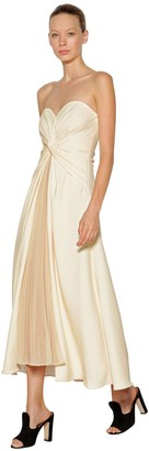 Self-Portrait Self Portrait Knotted And Pleated Jersey Long Dress