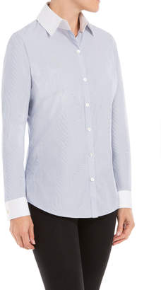 Max Studio botton-front blouson sleeved shirt