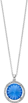 Brilliance+ Brilliance Halo Oval Pendant Necklace with Swarovski Crystal