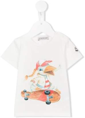 Moncler skating duck print T-shirt