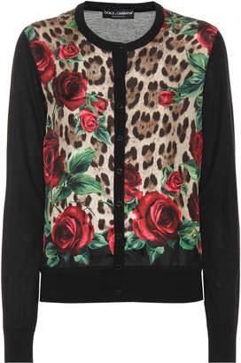 Dolce & Gabbana Floral silk and cashmere cardigan