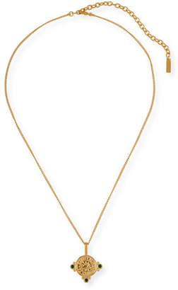 fb3db9416f1 Saint Laurent Medallion Pendant Necklace w/ Stones