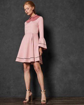 Ted Baker PIPPIY Ladder lace skater dress