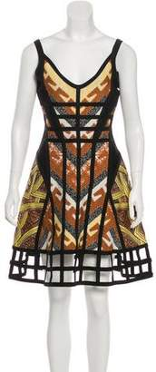 Herve Leger Amella Jacquard Dress