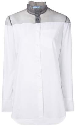 Prada sheer panelled shirt