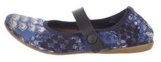 Marni Junior Girls' Printed Round-Toe Flats blue Junior Girls' Printed Round-Toe Flats