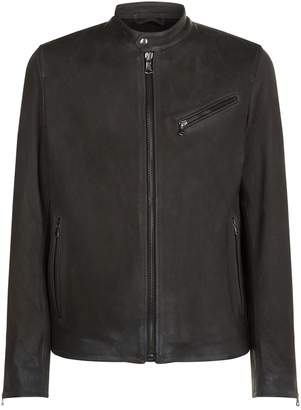 7 For All Mankind Collarless Biker Jacket