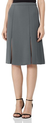 REISS Ennis Slit-Front Skirt $240 thestylecure.com