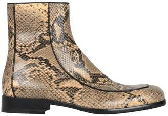 Dries Van Noten Snake-effect Leather Boots