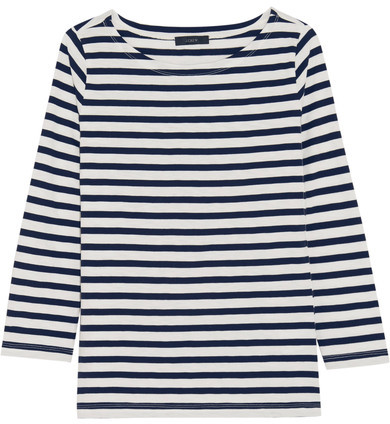 J.Crew - Striped Cotton-jersey Top - Navy