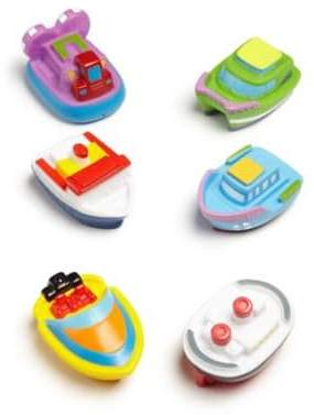 Elegant Baby Six-Piece Boat Squirties Bath Toys