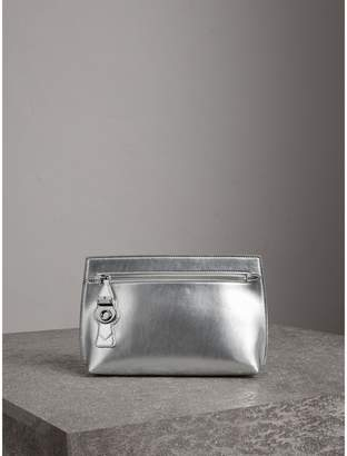 Burberry Metallic Trench Leather Pouch