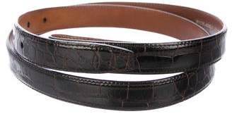 Kieselstein-Cord Alligator Leather Belt Strap