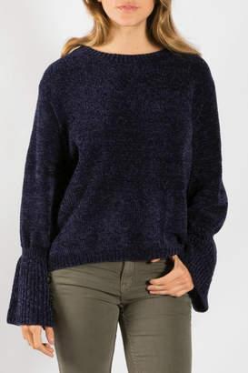 Elan International Boat Neck Bell Sleeve Sweater