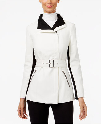 INC International Concepts Faux-Leather Contrast Moto Jacket, Only at Macy's $129.50 thestylecure.com