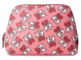 Alice + Olivia Keith Haring X Nikki Printed Cosmetic Case