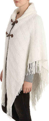Kelly & Katie Solid Toggle Poncho - Women's