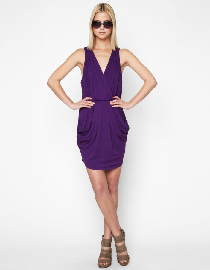 BCBGENERATION Draped Surplice Dress