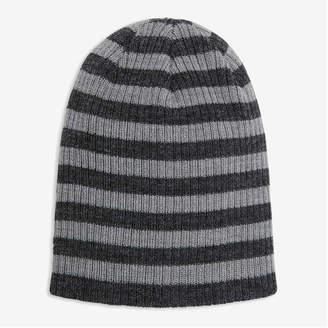 Joe Fresh Toddler Boys' Stripe Beanie, Grey Mix (Size 4-5)