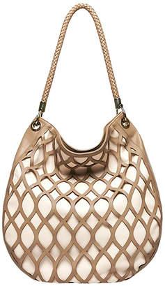 Kristina George Laser Cut Luna Tote Hobo Bag