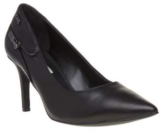 Karl Lagerfeld New Womens Black Manoir Mid Court Zip Leather Shoes Slip On