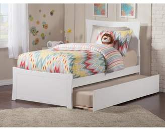 Atlantic Furniture Metro Platform Bed with Matching Foot Board with Twin Size Urban Trundle Bed, Multiple Colors and Sizes