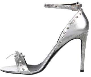 Rodarte Metallic Embellished Sandals