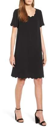 Everleigh Scallop Shift Dress
