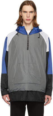John Elliott Blue and Grey Sail Pullover Jacket
