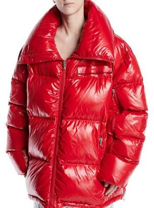 Calvin Klein Zip-Front Quilted Puffer Jacket