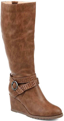 Journee Collection Garin Extra Wide Calf Wedge Boot - Women's