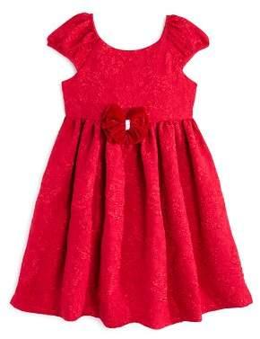 Pippa & Julie Girls' Brocade Bow Dress - Little Kid