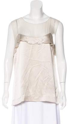 Alberta Ferretti Silk Sleeveless Blouse