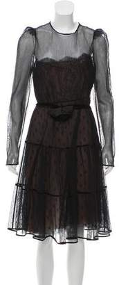 Valentino Long Sleeve Mesh Dress w/ Tags