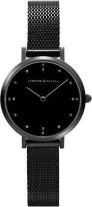 Church's LEONARD AND Leonard & Mercer Mesh Strap Watch, 30mm