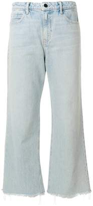 Alexander Wang flared cropped jeans
