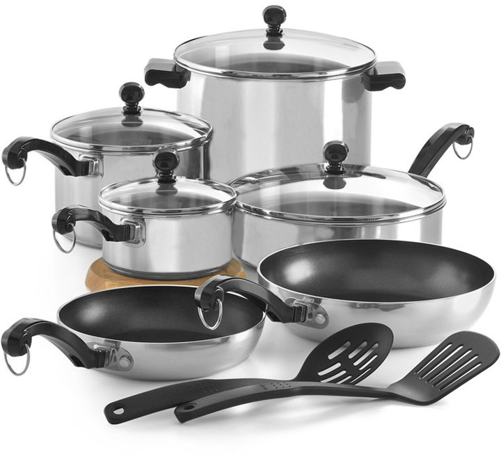 Farberware CLOSEOUT! Classic Stainless Steel 12 Piece Cookware Set