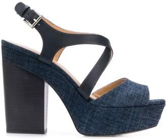 MICHAEL Michael Kors denim platform sandals