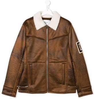 Dondup Kids TEEN zipped aviator jacket
