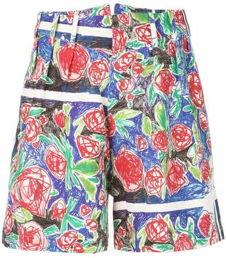 Charles Jeffrey Loverboy draw printed shorts