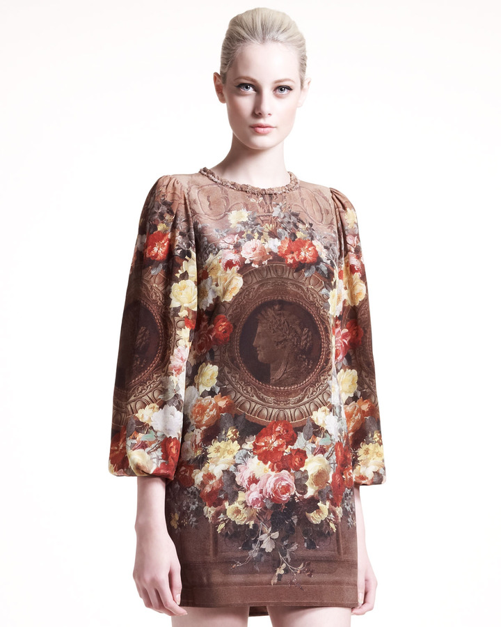 Dolce & Gabbana Neoclassical-Print Shift Dress