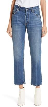 Rebecca Taylor Sylvie Distressed High Waist Crop Nonstretch Jeans