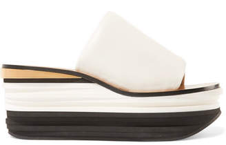 04fa9f4ce033 Chloé Camille Leather Wedge Sandals - White
