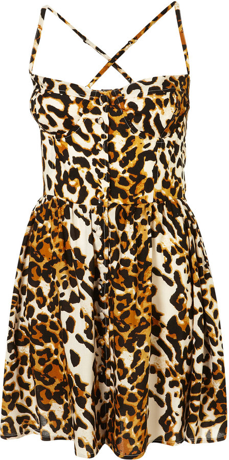 Animal Cupped Sun Dress