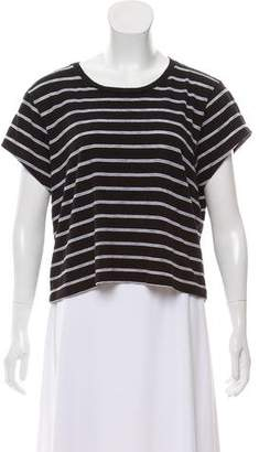 RE/DONE Striped Scoop Neck Top
