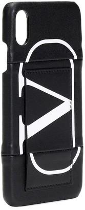 Valentino VLOGO iPhone XS Max leather case