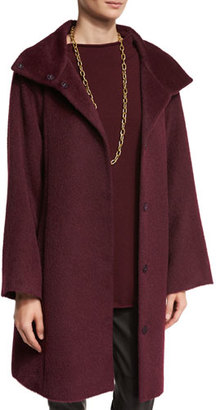 Eileen Fisher Fisher Project Oversized Alpaca-Blend Coat, Raisonette $698 thestylecure.com