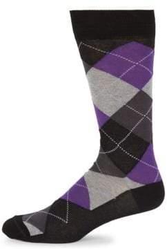 Saks Fifth Avenue Mid-Calf Argyle Socks